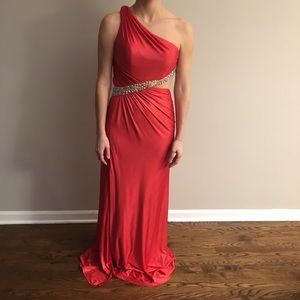 One Shoulder Red Prom Dress never worn!